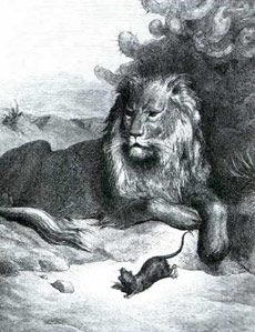 La Fontaine - illustration G.DORÉ - le Lion et le Rat